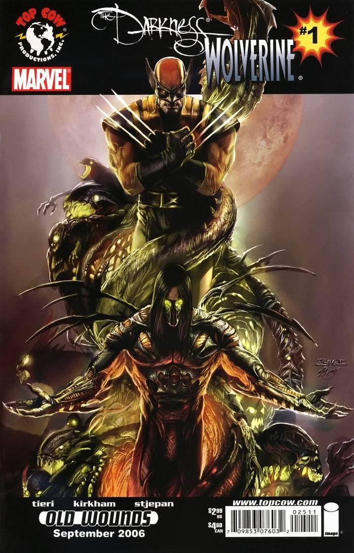 Комиксы Онлайн - Тьма (Даркнесс) том 1 - и Росомаха - Страница №1 - Darkness vol 1 - Darkness & Wolverine